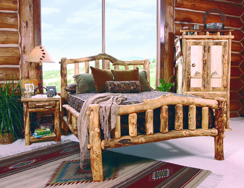 Мебель для спальни из коряг