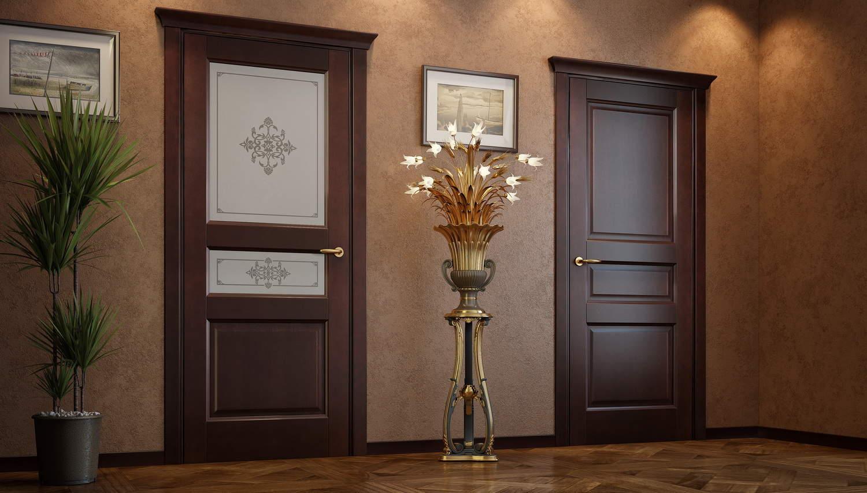 Межкомнатная дверь МДФ со стеклом