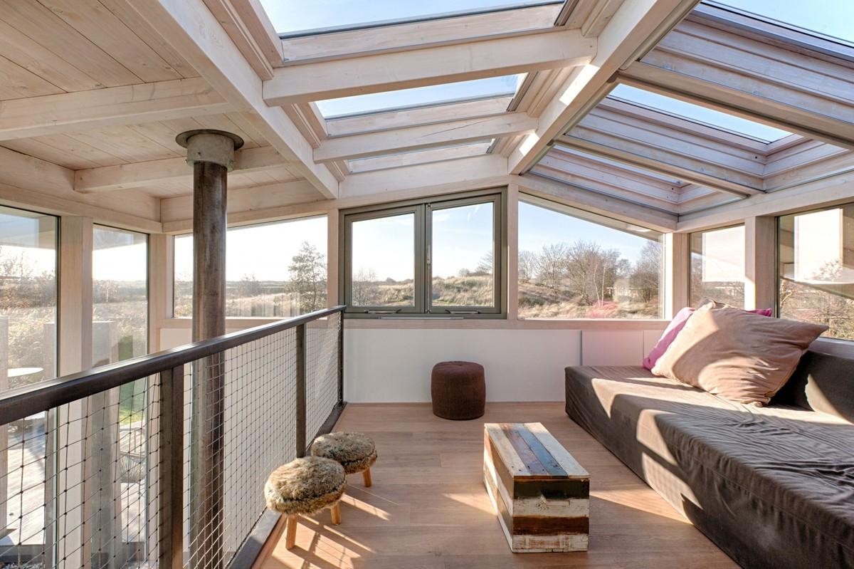 Стеклянный потолок в стиле лофт