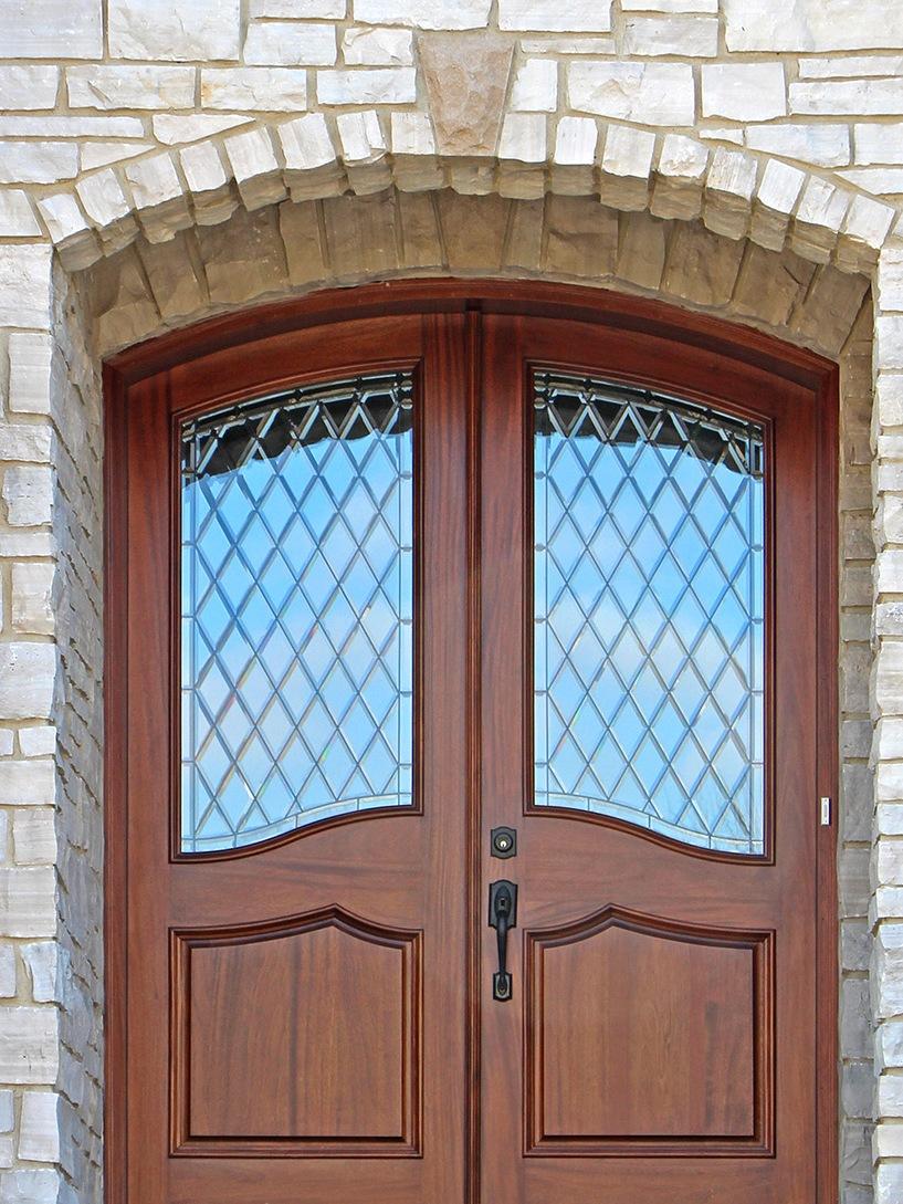 Дверь для дачи со стеклом