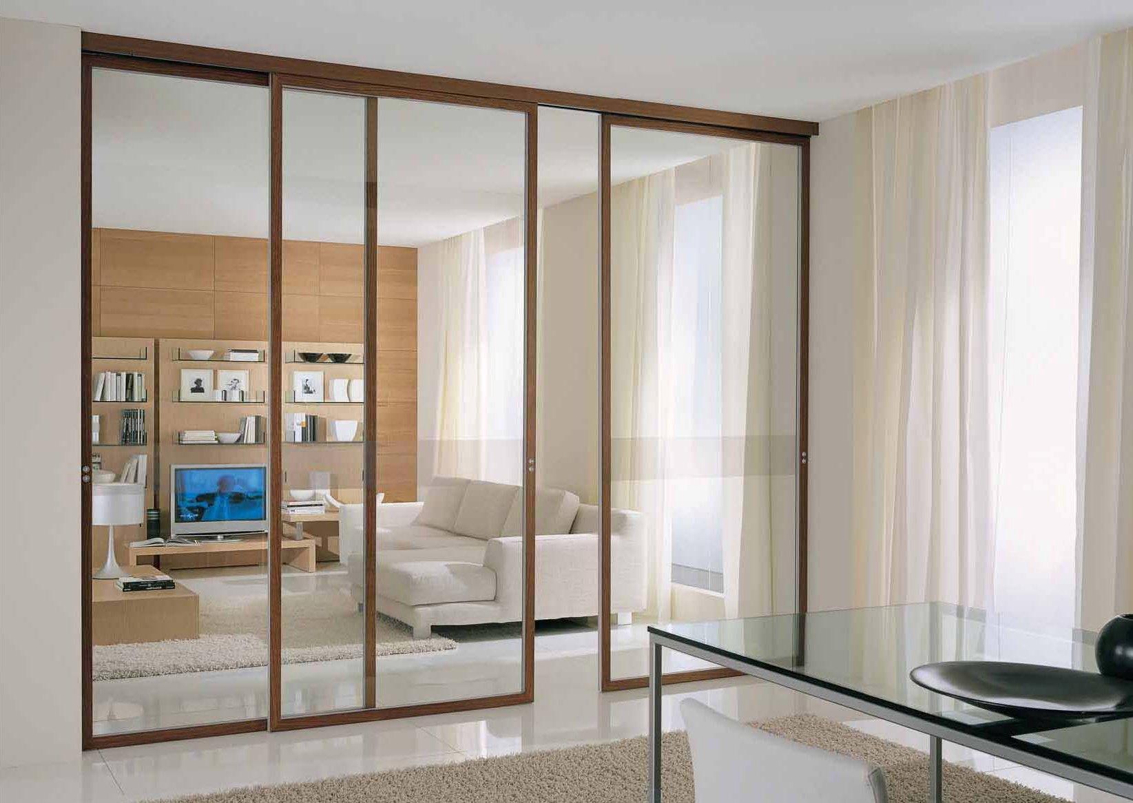 Навесные стеклянные двери