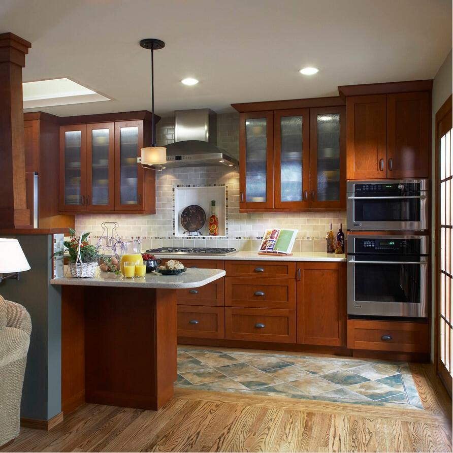 Шкафы для кухни со стеклом