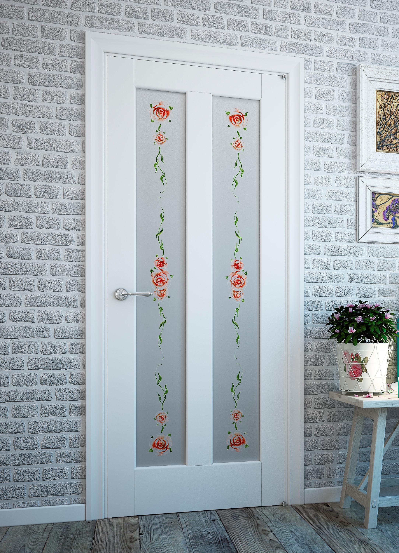 Дверь со стеклом в стиле прованс