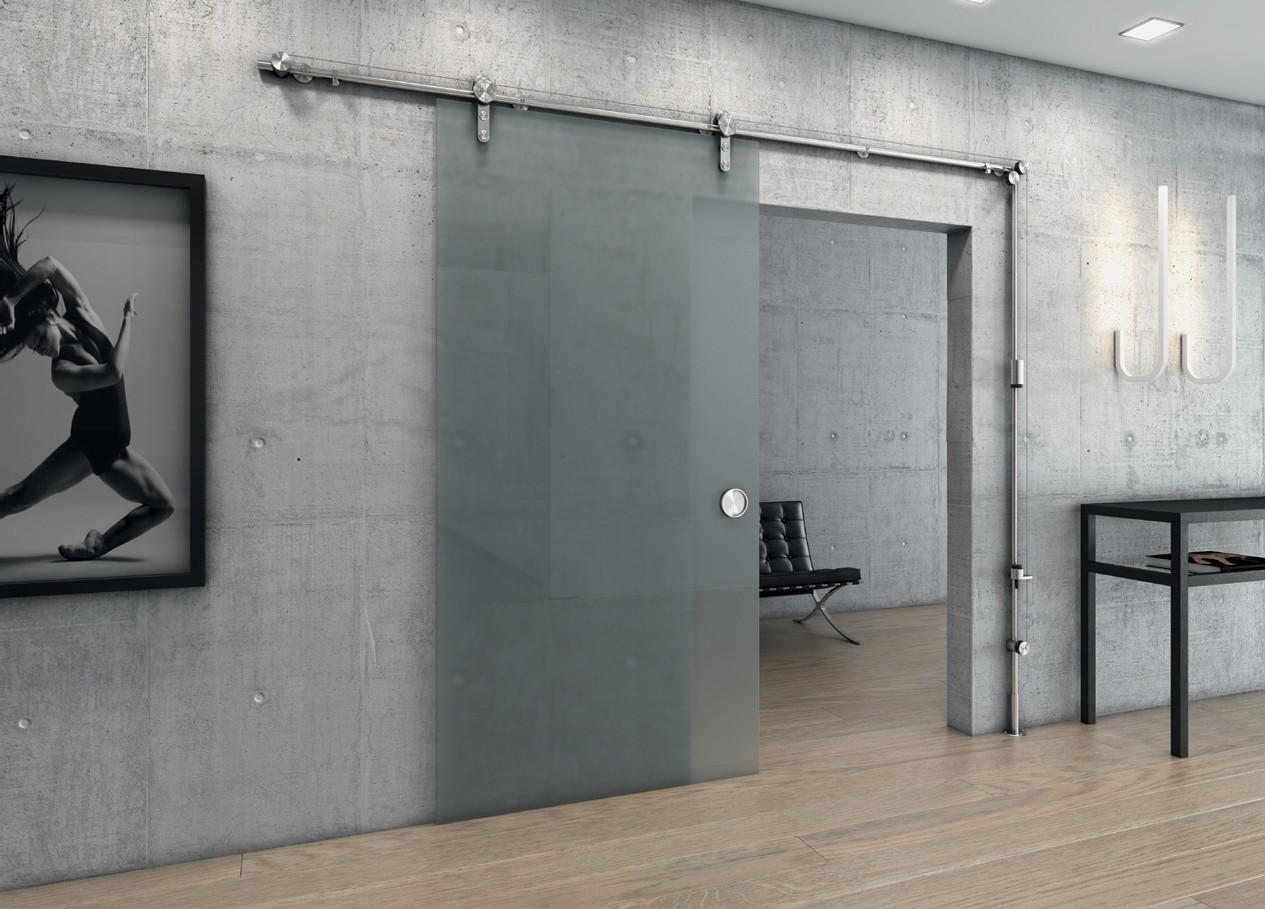 Навесные двери из стекла