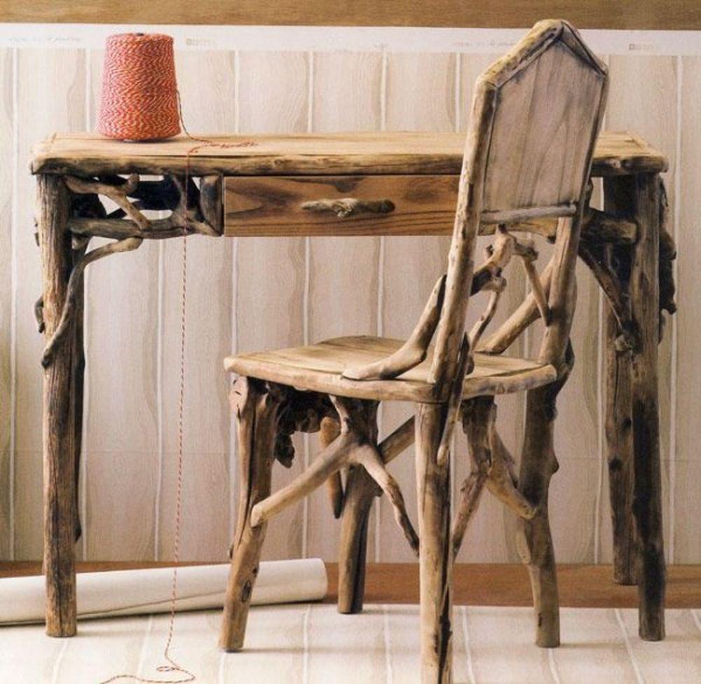 Письменный стол из коряг