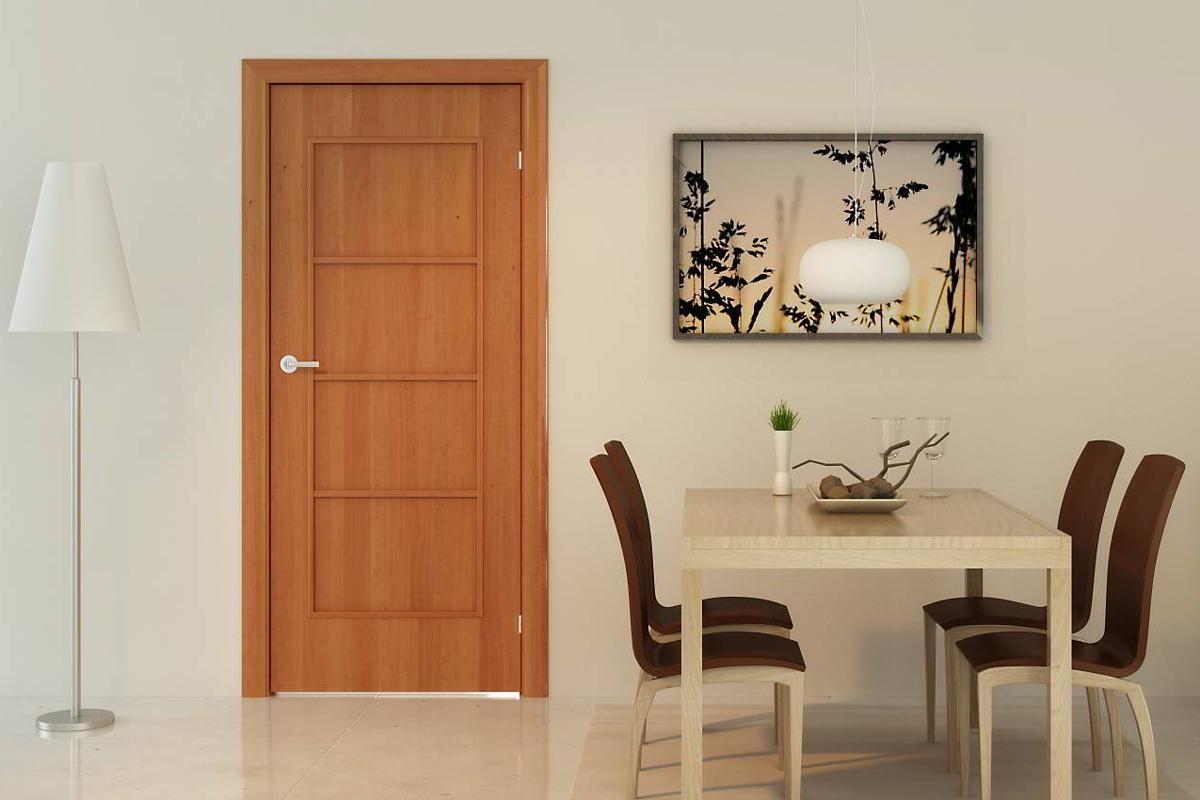 Ламинированная дверь в столовой