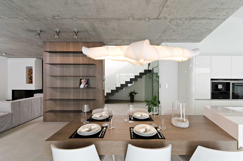 Бетонный потолок – отличный вариант для сурового и брутального стиля лофт (26 фото)