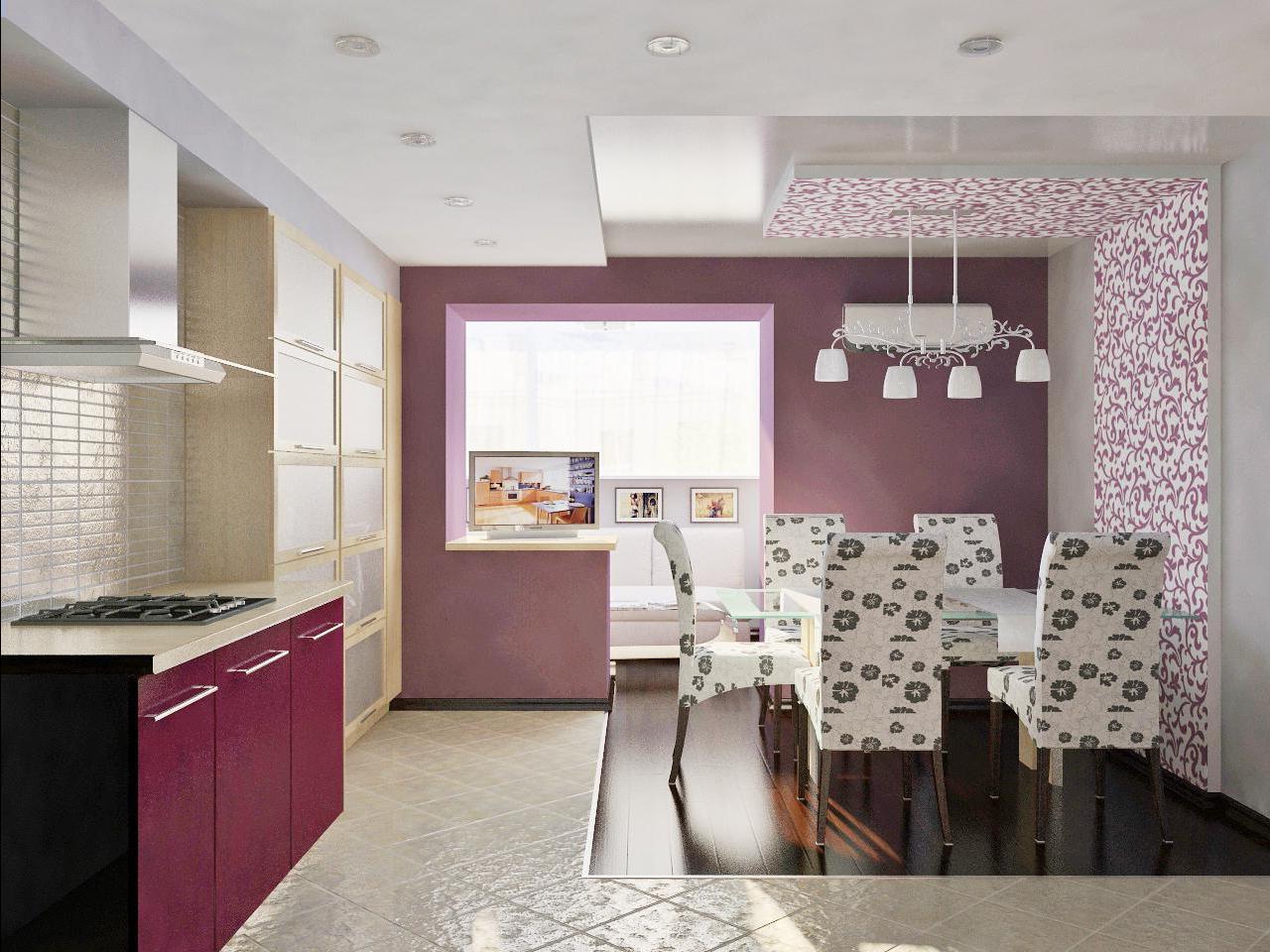 Светло-фиолетовые обои