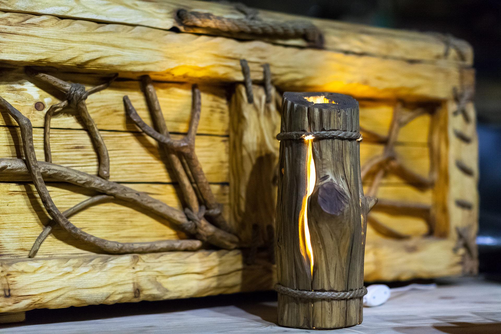 Светильник из коряг