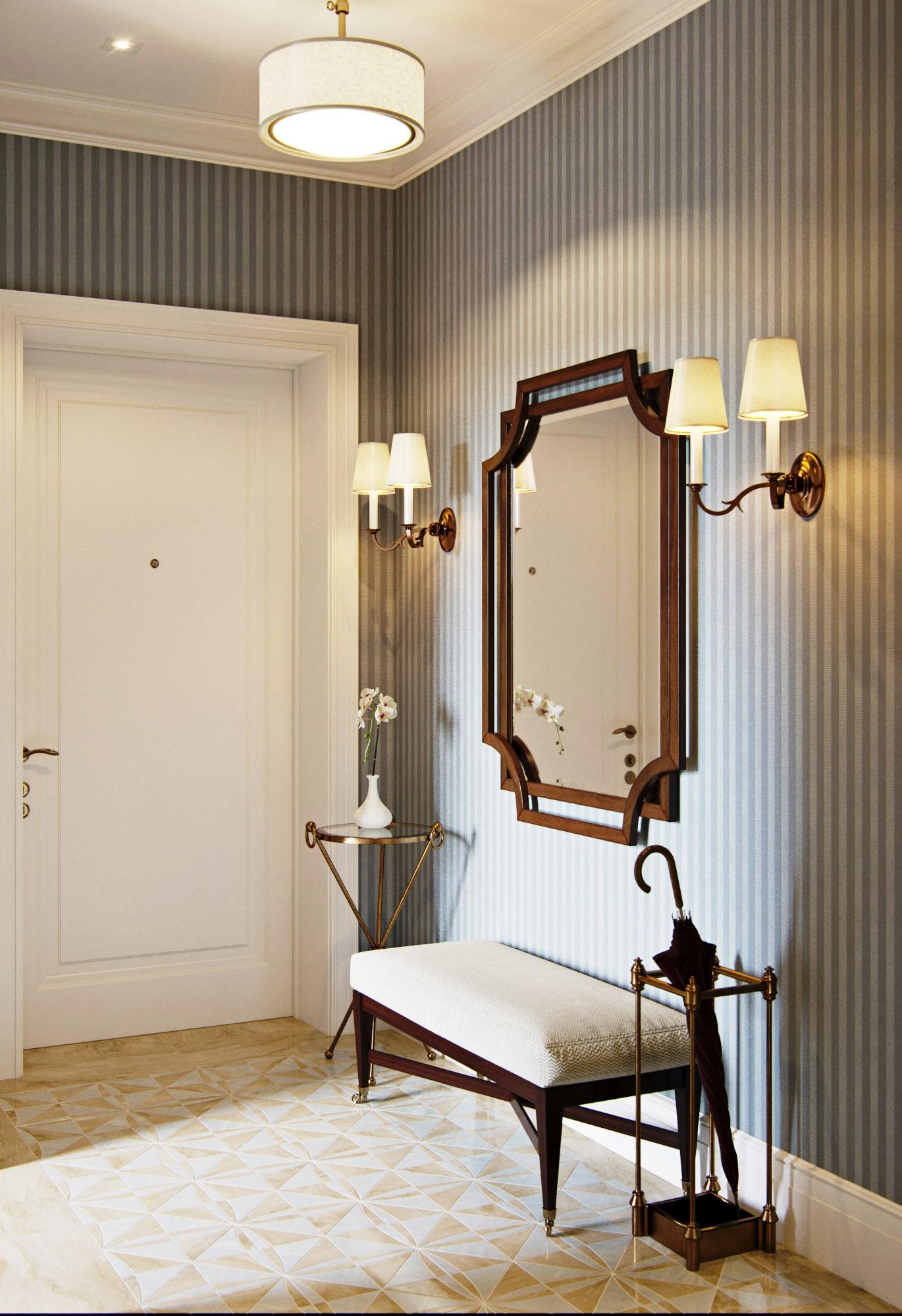 Светильники в классическом стиле прихожей