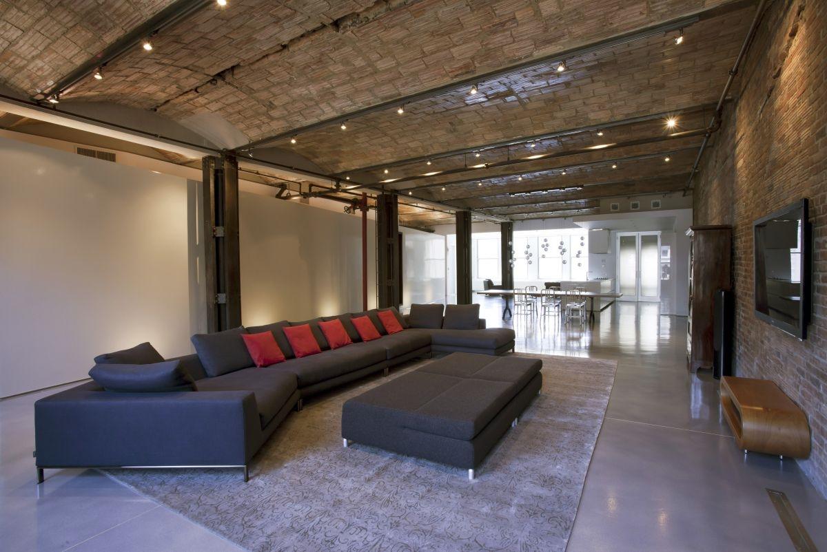 Сводчатый потолок в стиле лофт