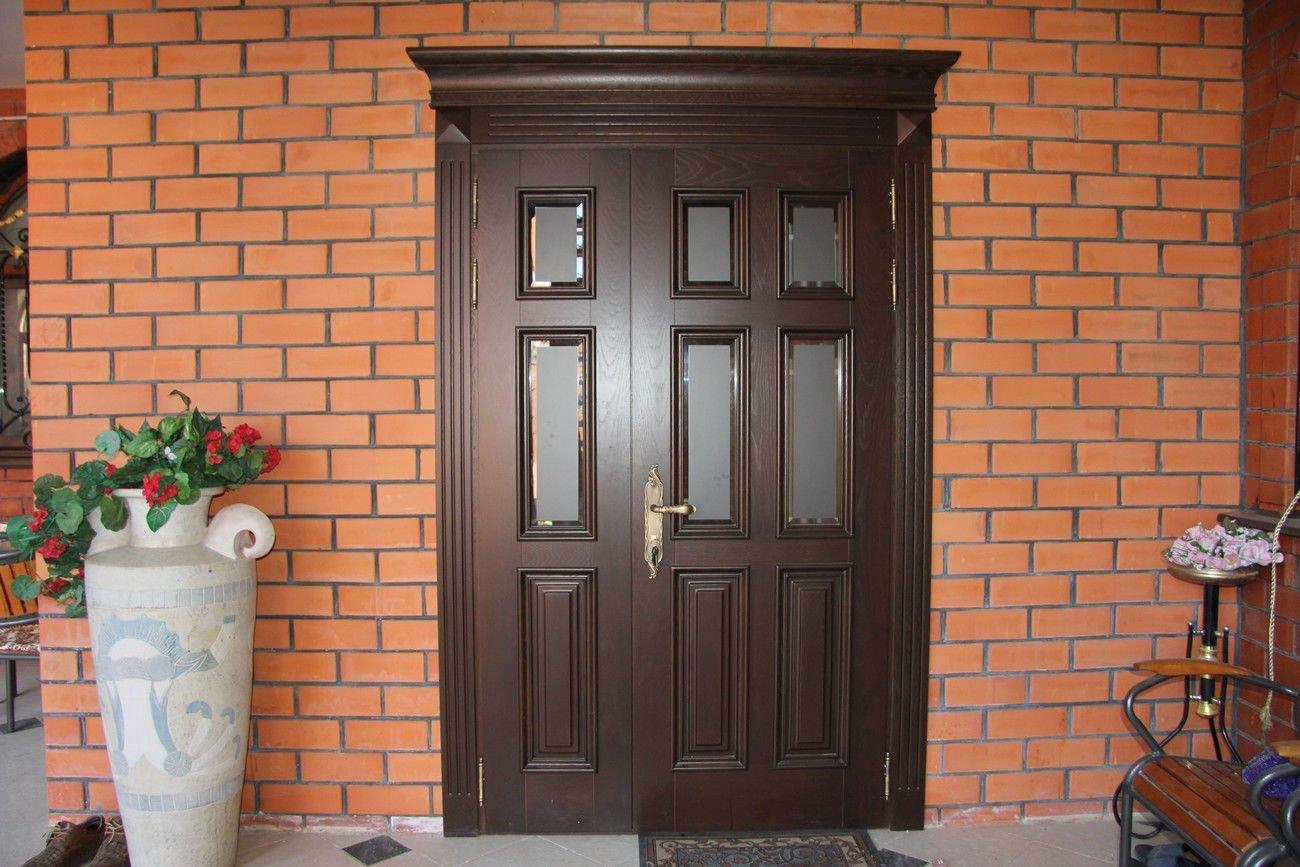 Входная темная дверь МДФ