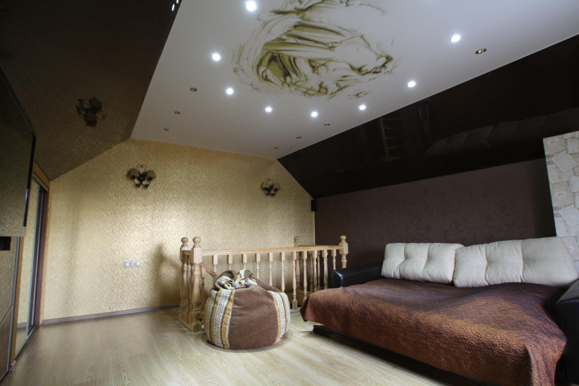 Акустический тканевый потолок