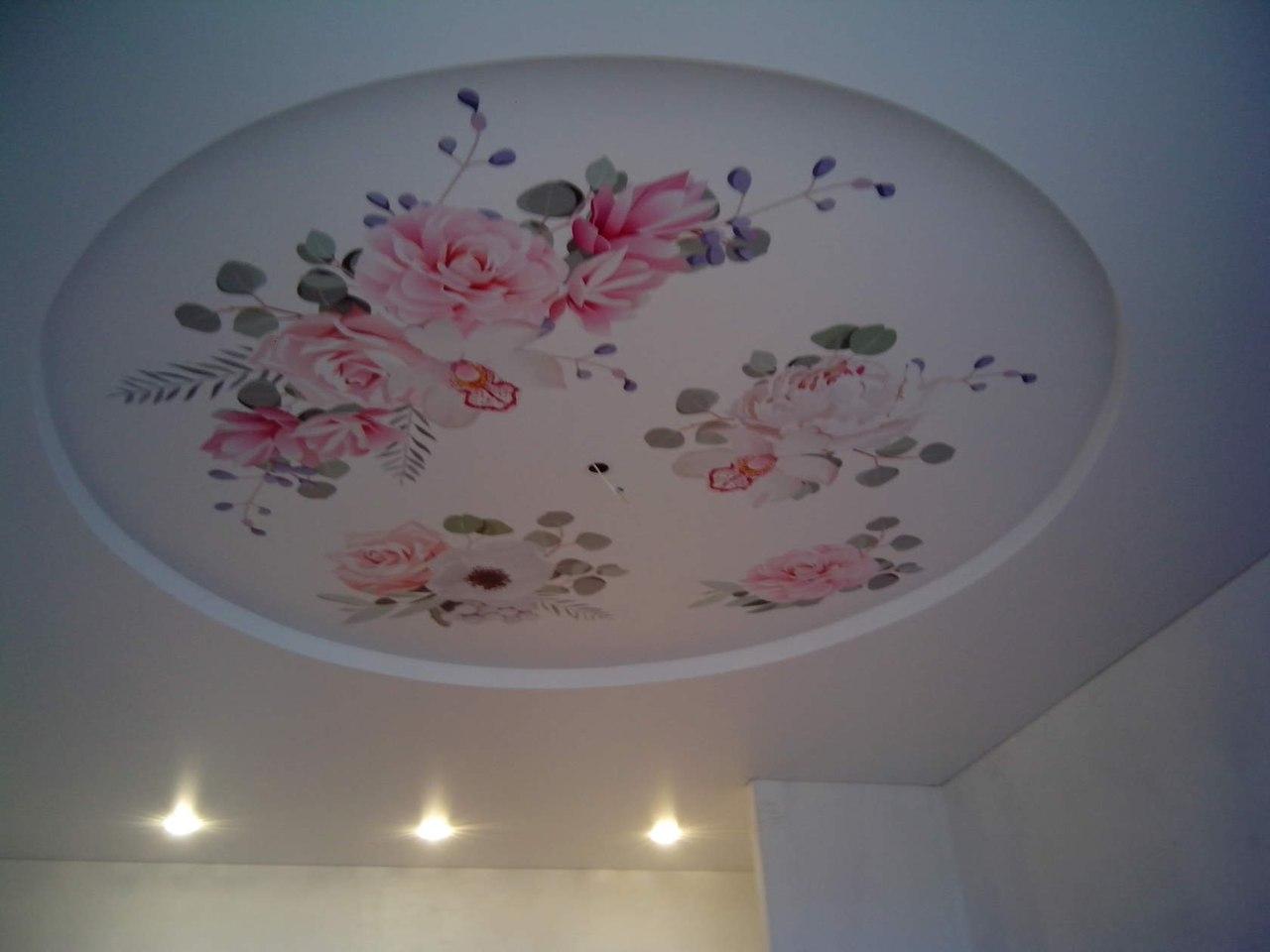 Натяжной тканевый потолок с фотопечатью