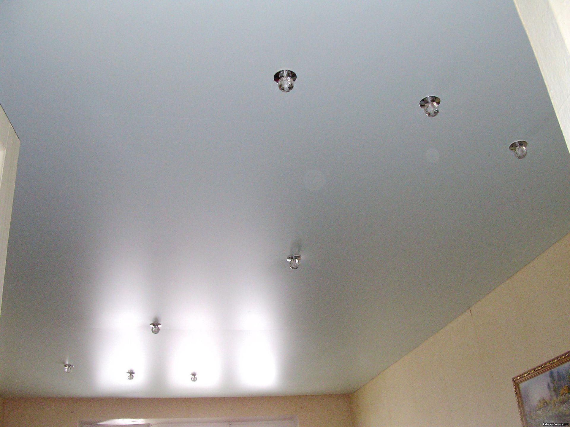 Сатиновый тканевый потолок