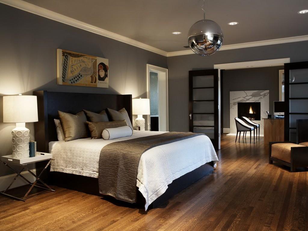 Серый натяжной тканевый потолок