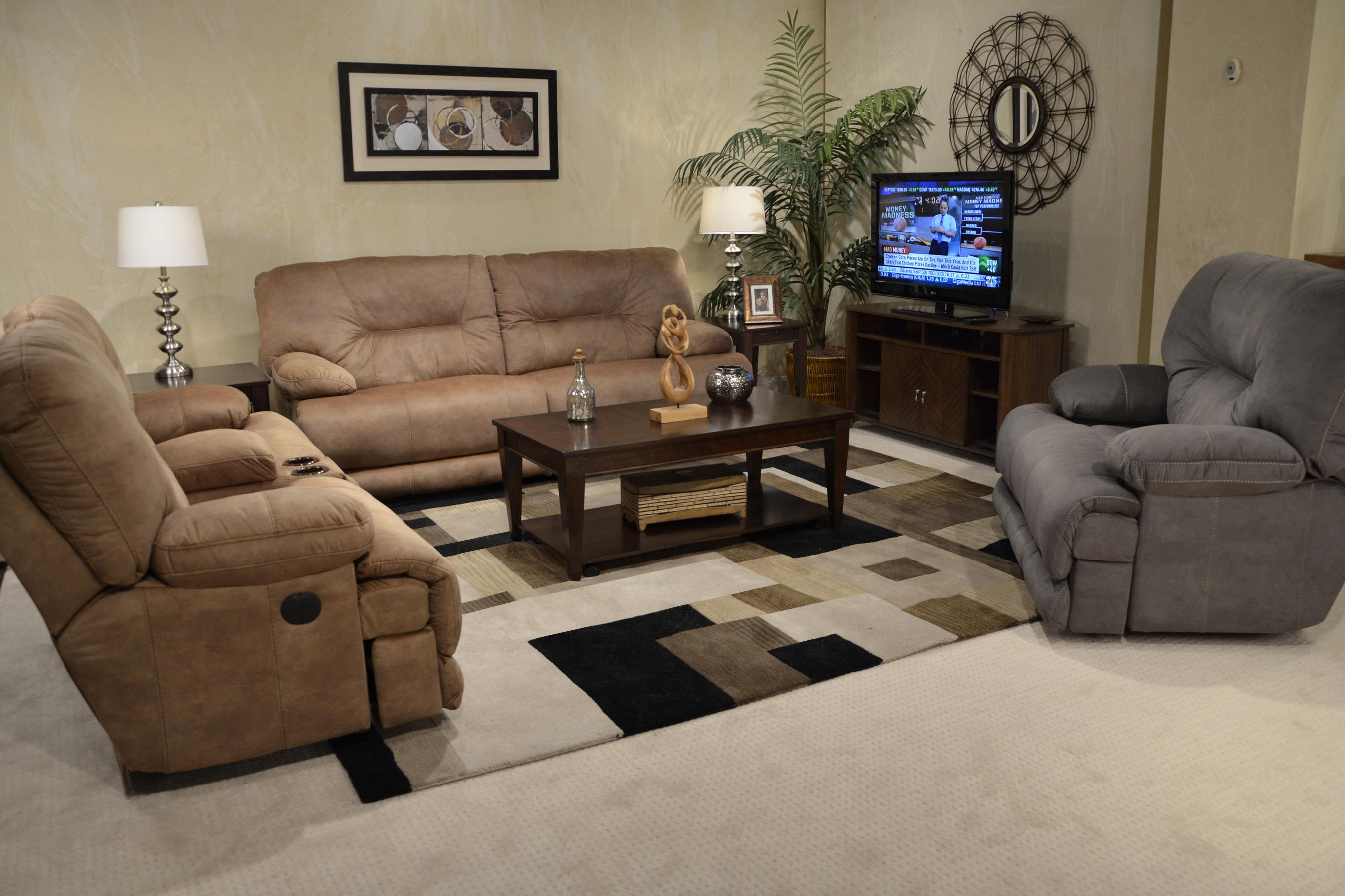 Тканевый диван-реклайнер