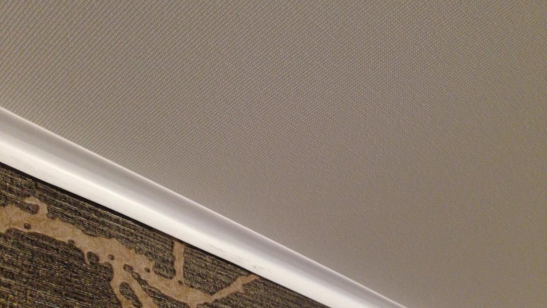 Бесшовный потолок из ткани
