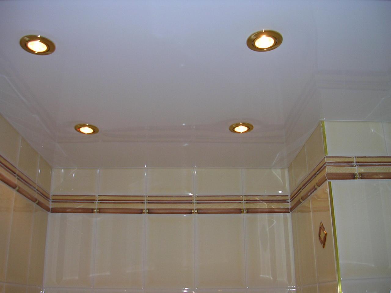 Потолок в хрущевке с точечными светильниками