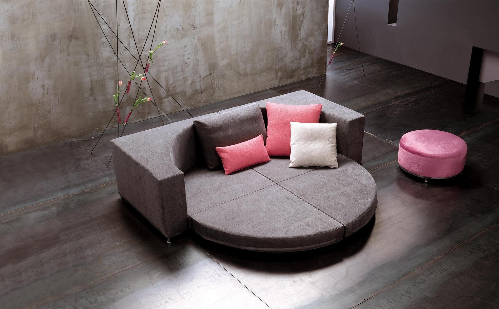 Круглый диван-трансформер