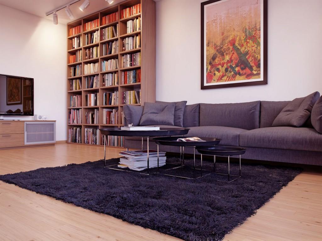 Серый трехместный диван