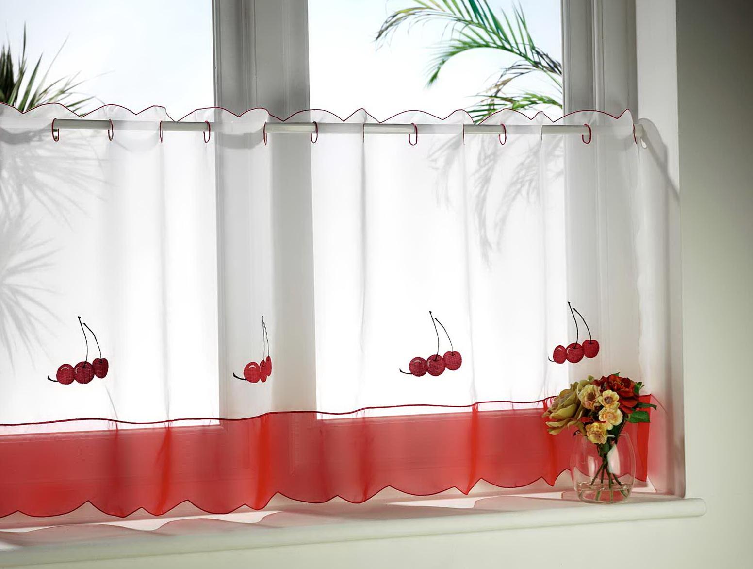 Короткие шторы из тюля