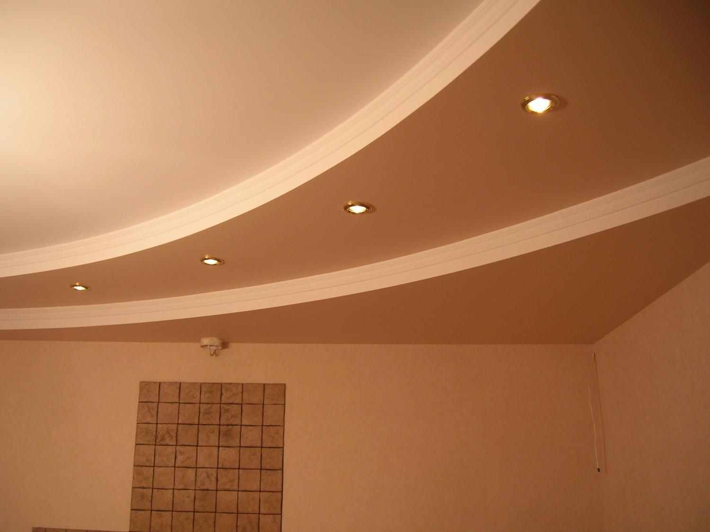Гипсовый двухуровневый потолок