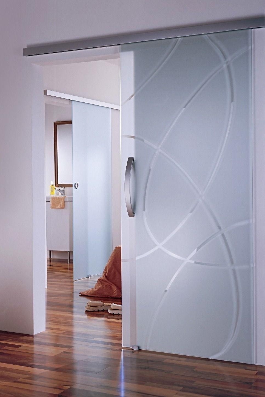 Дверь в ванную с узором