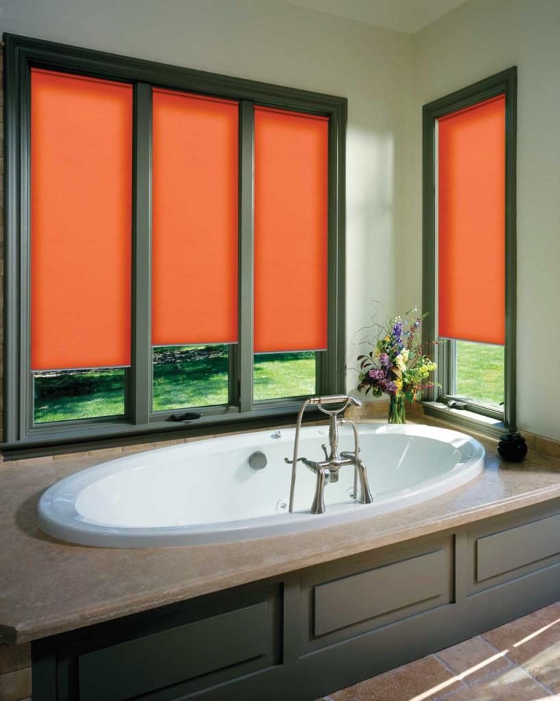Кассетные шторы в ванной