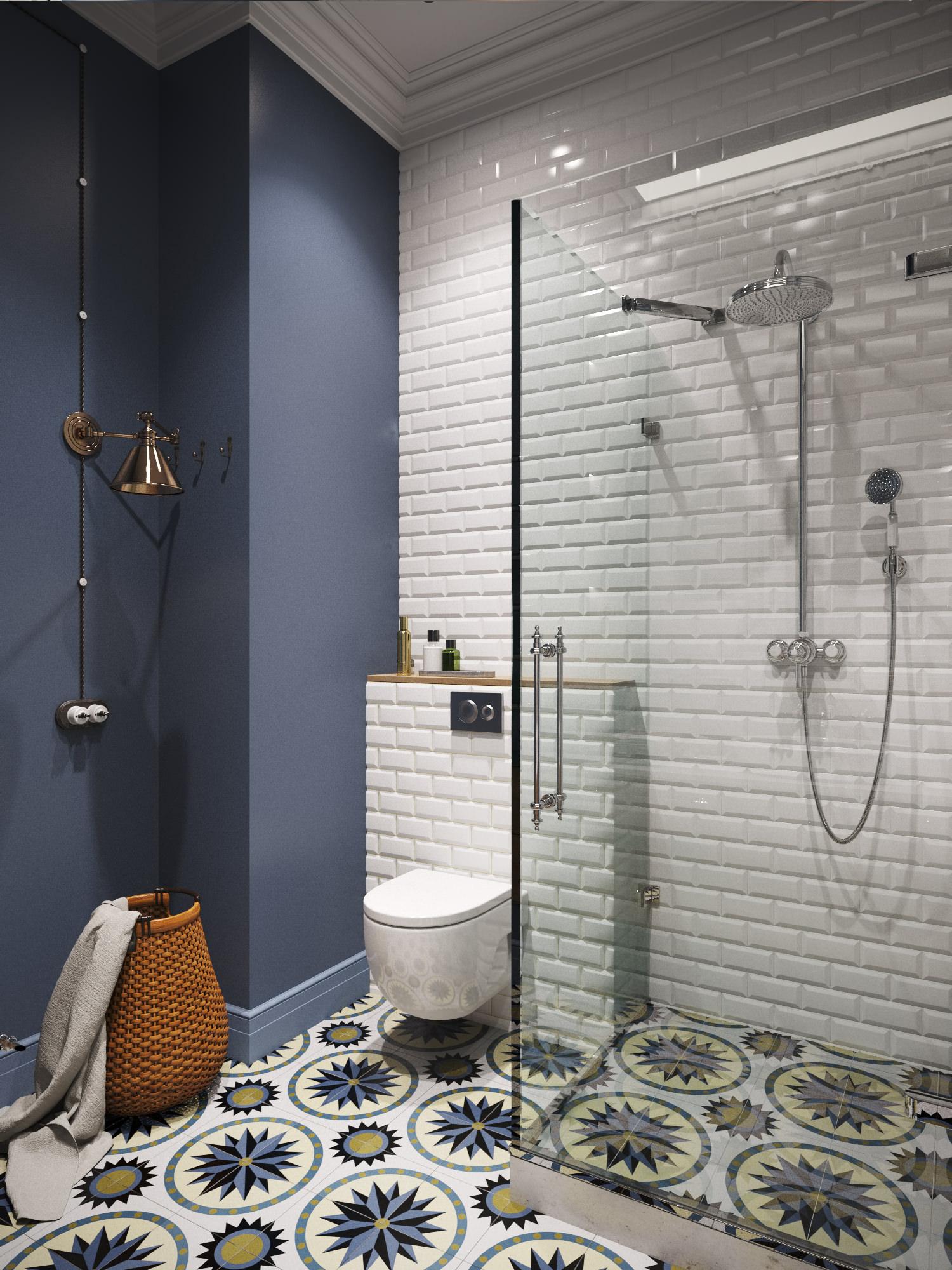 Плитка кабанчик в ванной