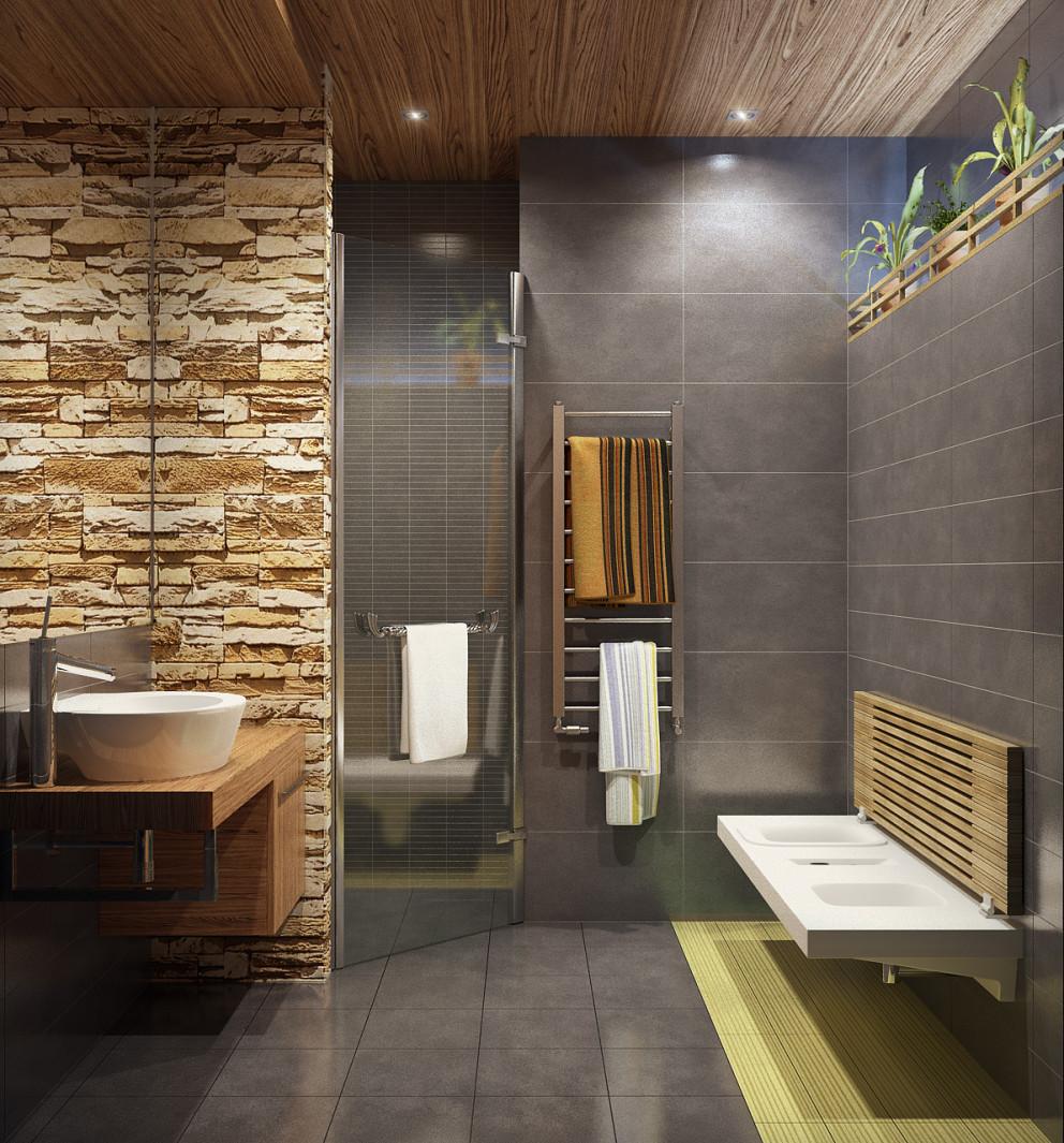Потолок из панелей ПВХ в ванной