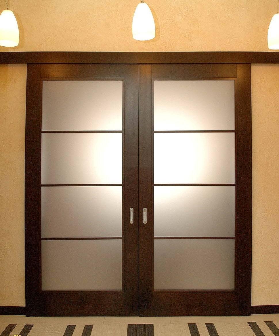 Откатная дверь венге