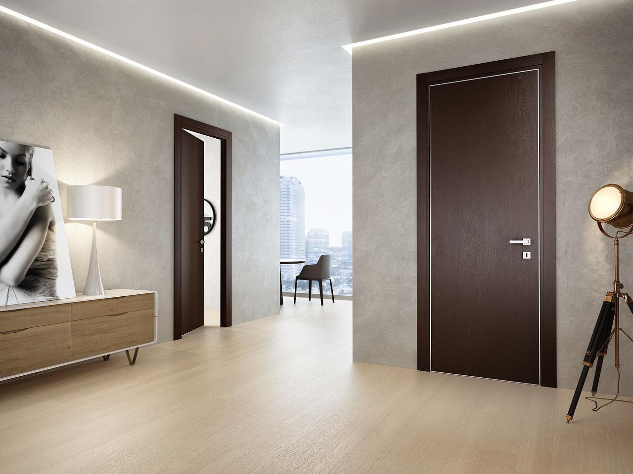 Ламинированная дверь венге
