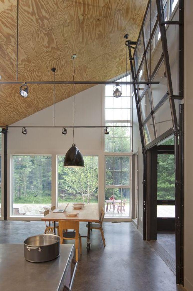 Высокий потолок из фанеры
