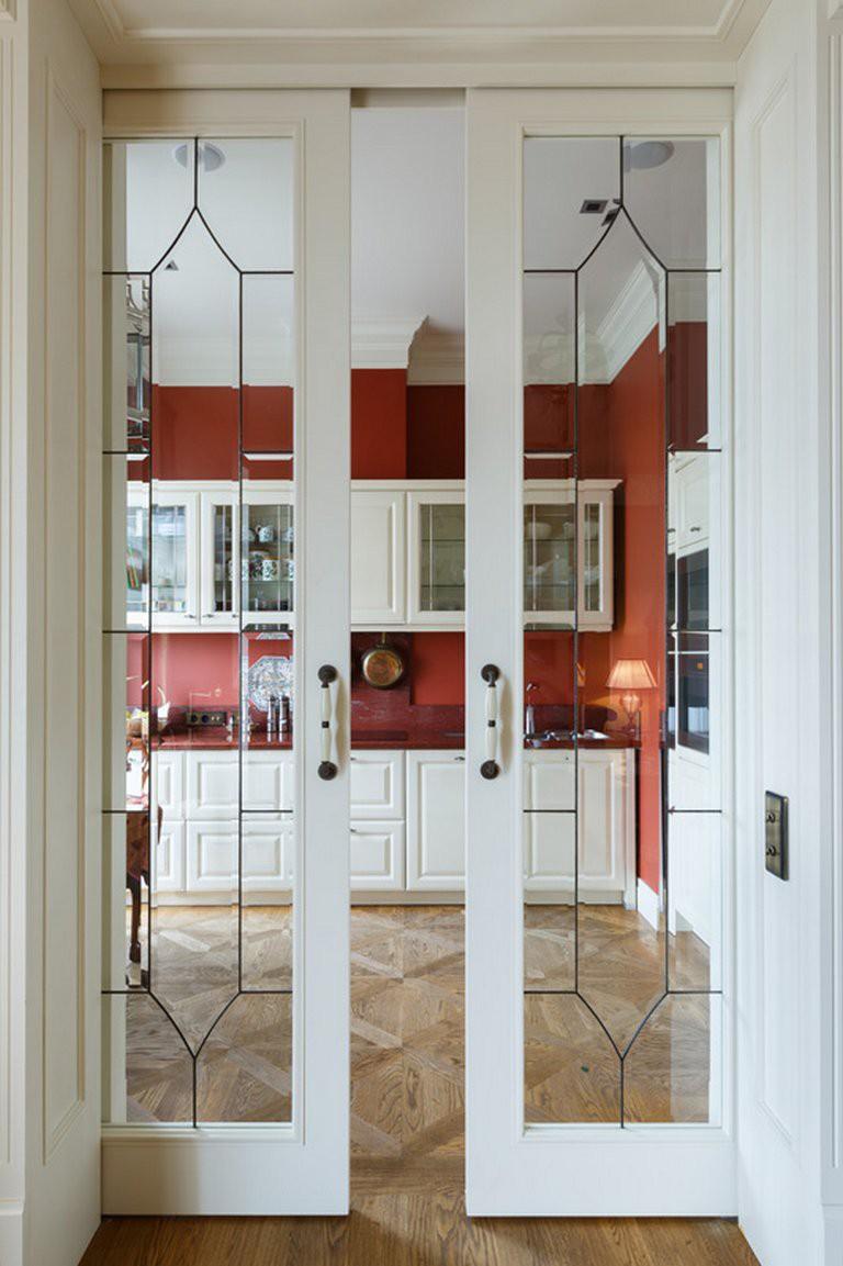 Витражная дверь на кухню
