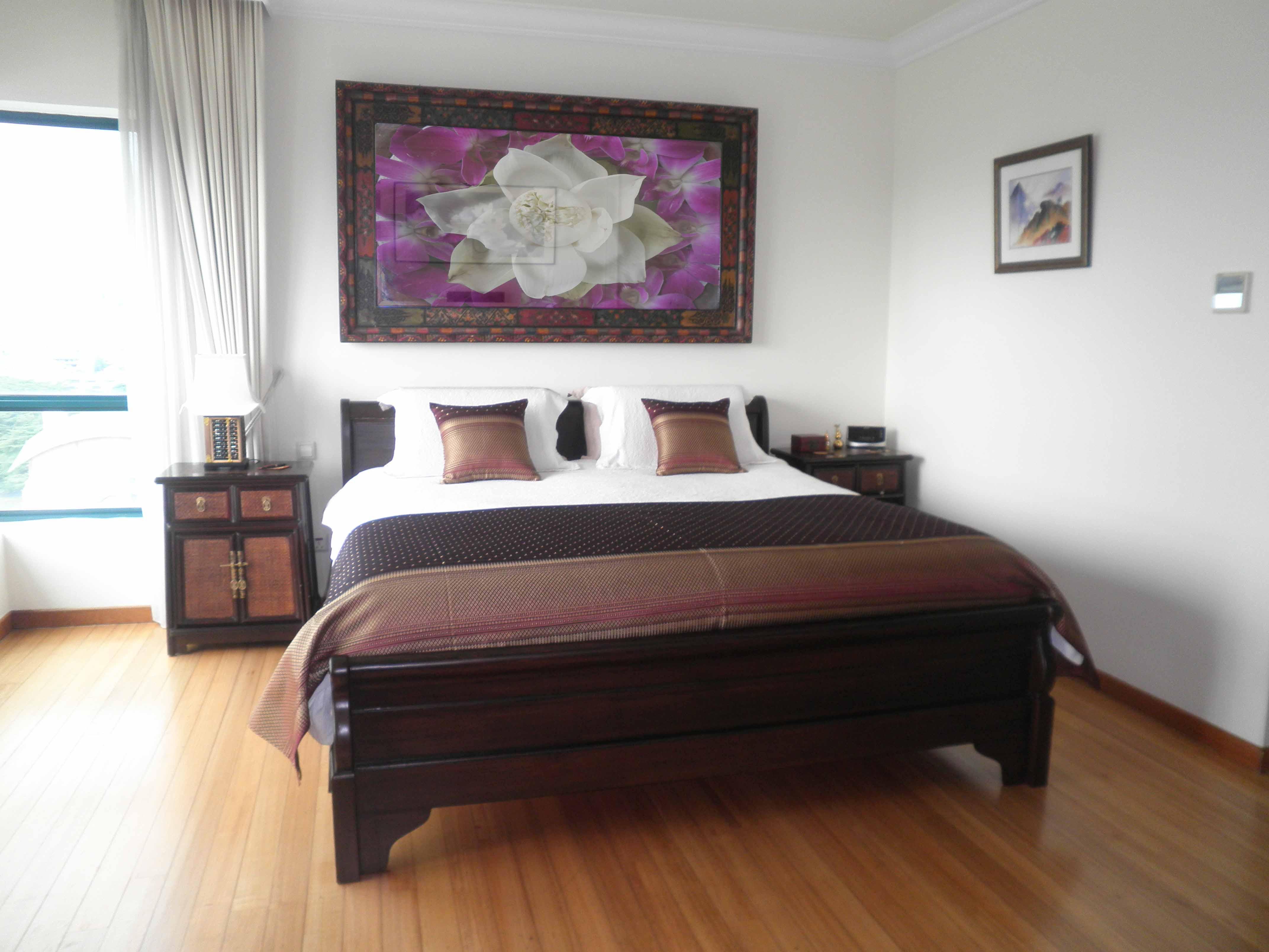 Кровать по фэн-шуй в восточном стиле