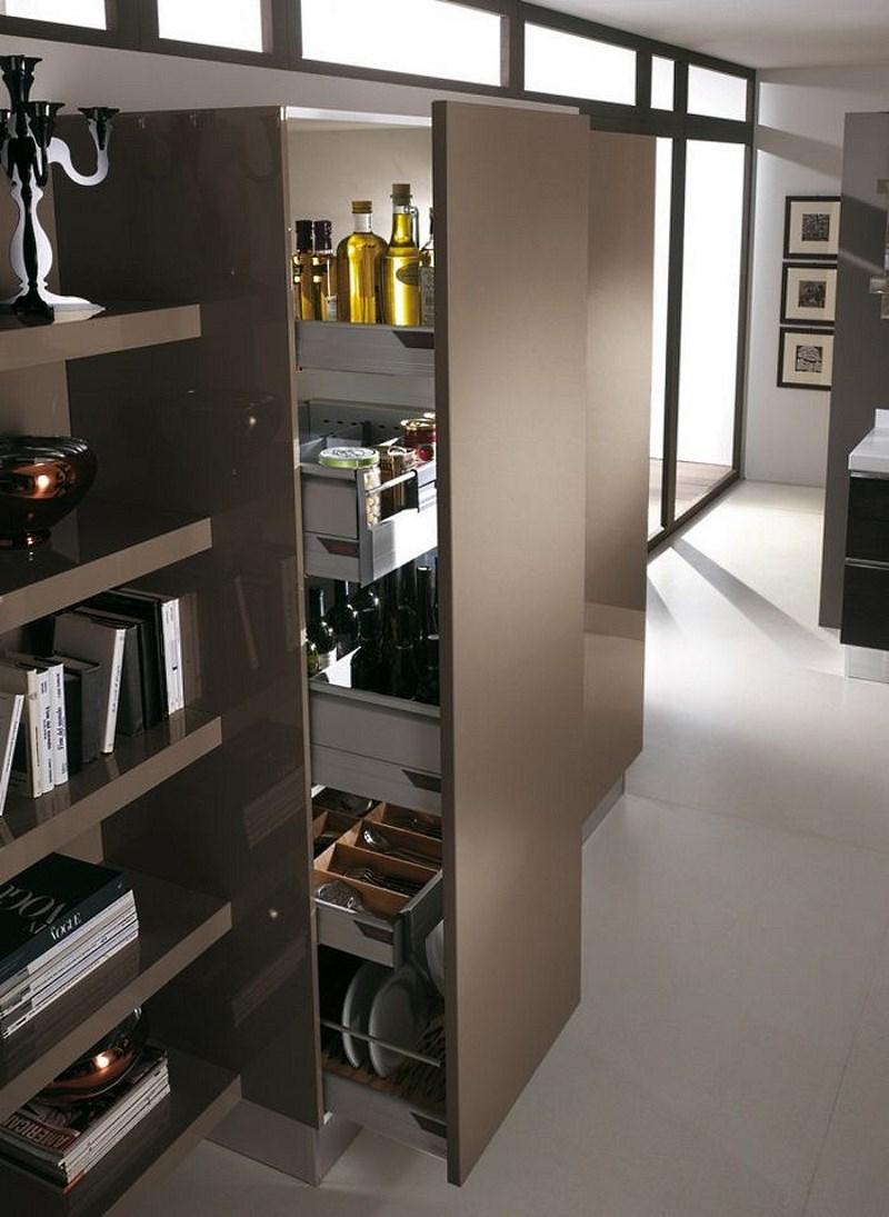 Выдвижной шкаф для кухни