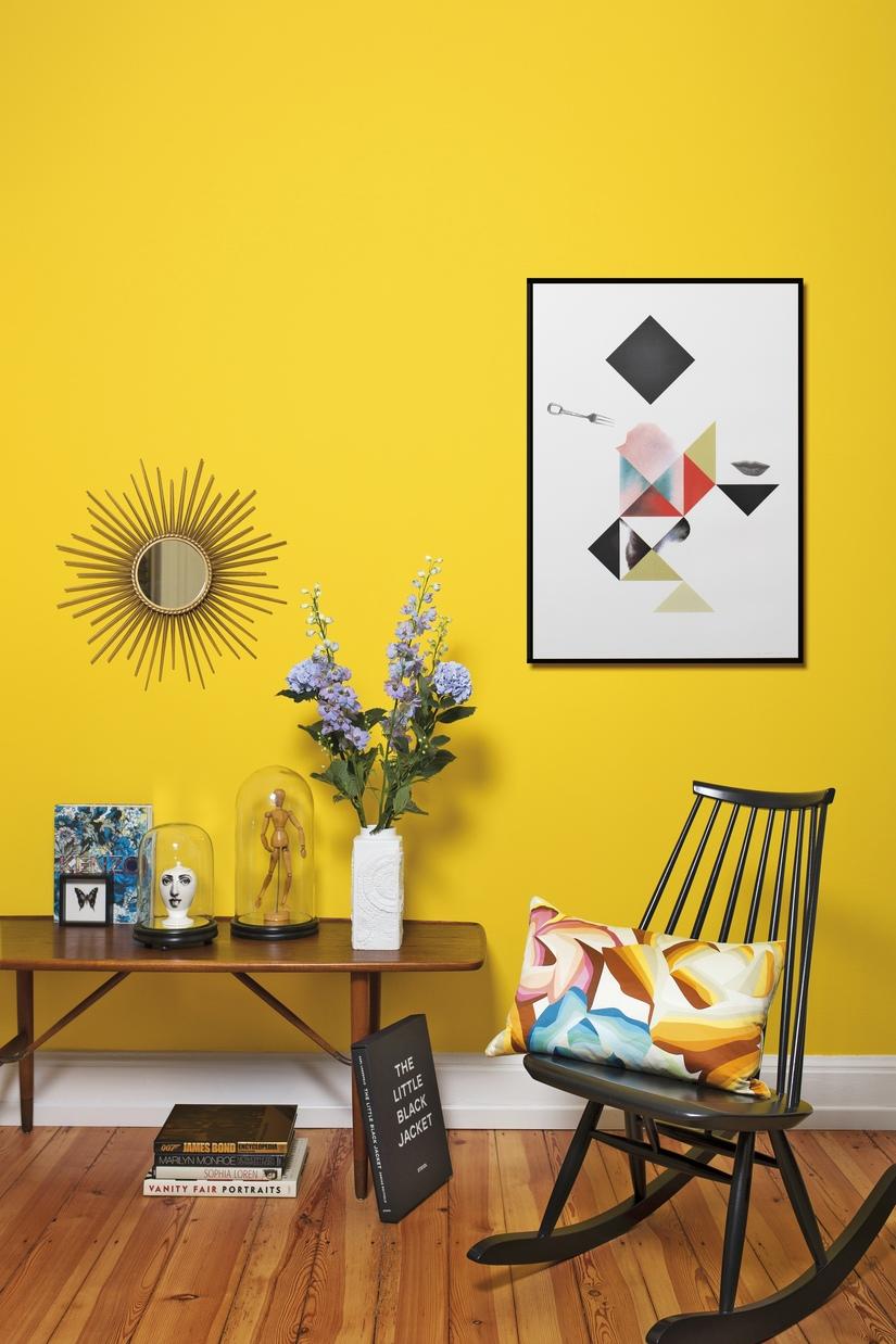 Ярко-желтые обои
