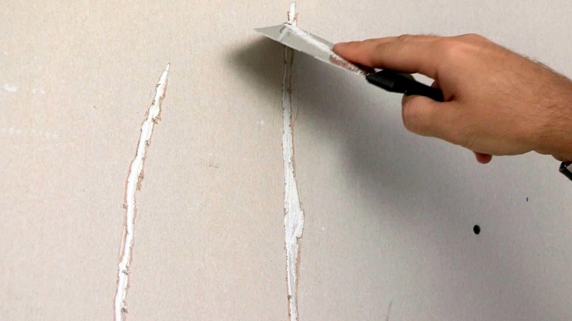 Заделка потолочных трещин