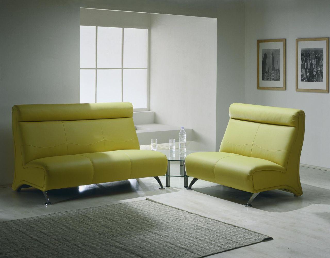 Зеленый диван из экокожи
