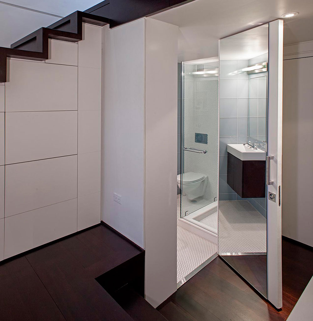 Дверь с зеркалом в ванную
