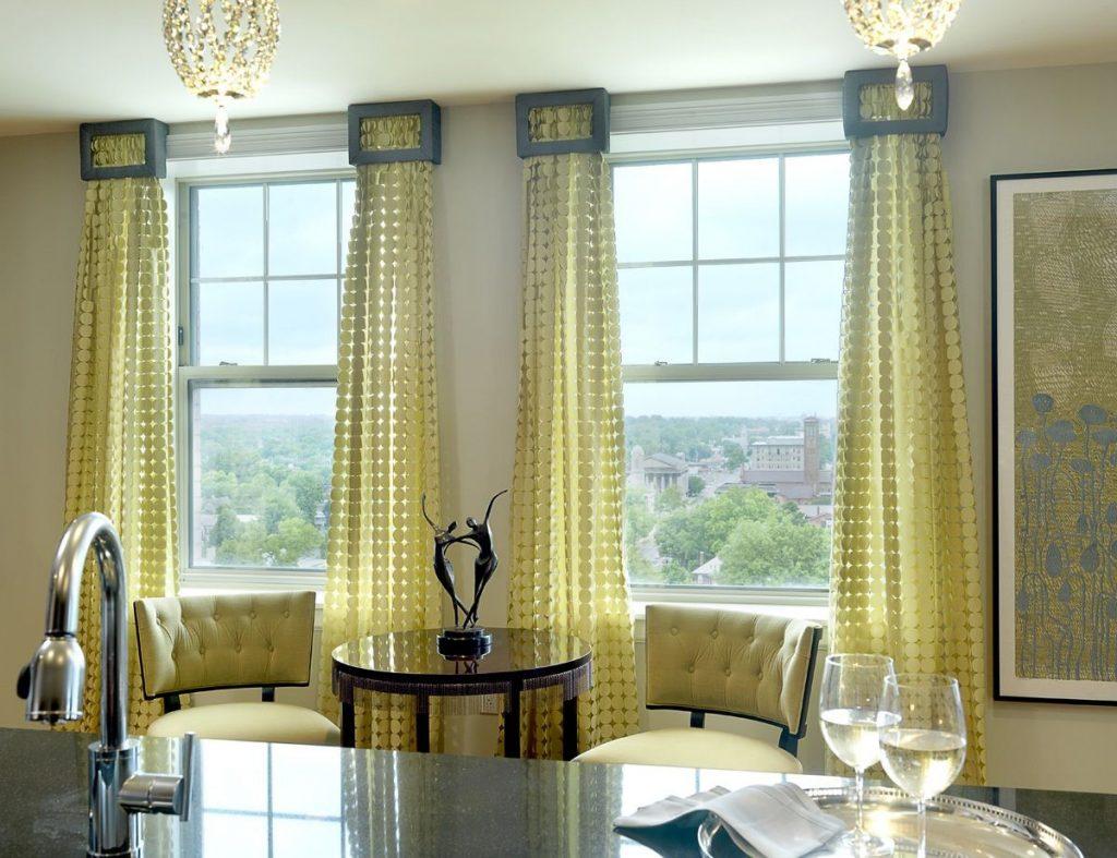 Модные желтые шторы