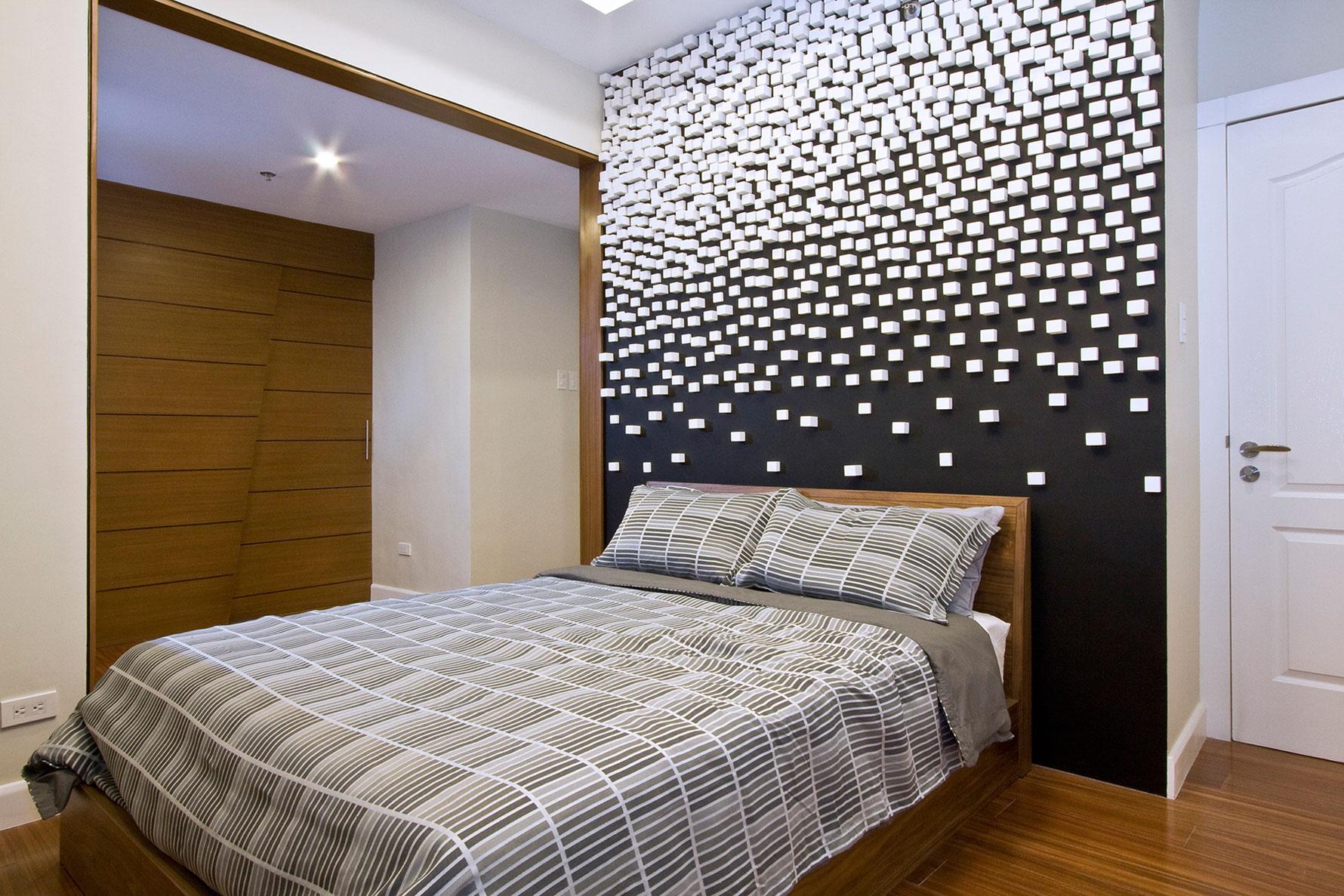 3D-стены в спальне