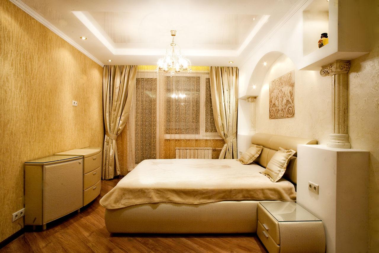 Спальня в хрущевке в античном стиле