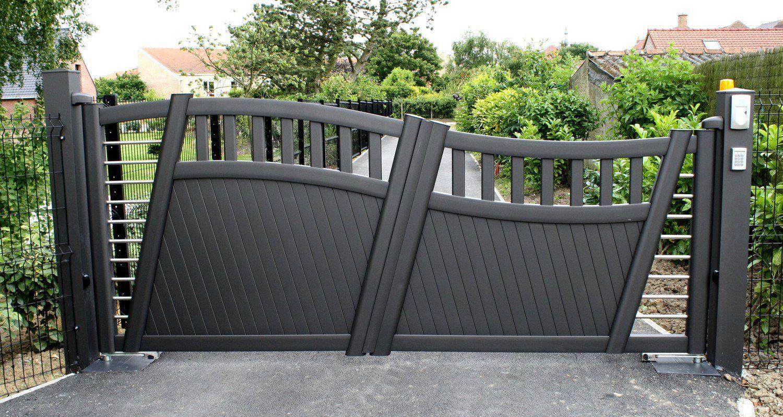 Асимметричные распашные ворота