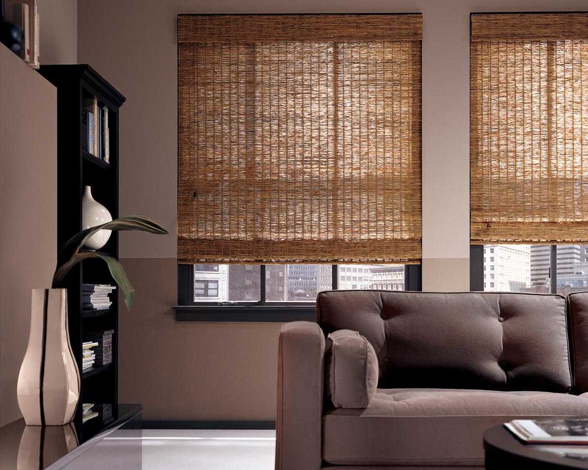 Бамбуковые шторы на липучке