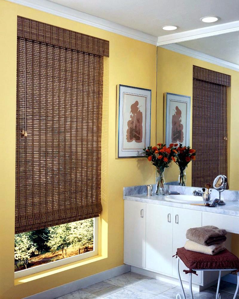 Узкие шторы из бамбука