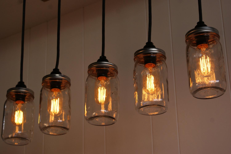 Лампа Эдисона из банок