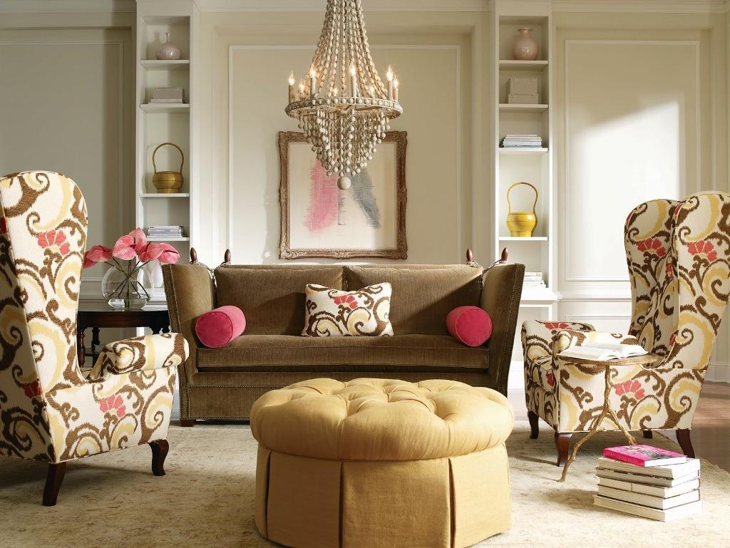 Бархатный коричневый диван