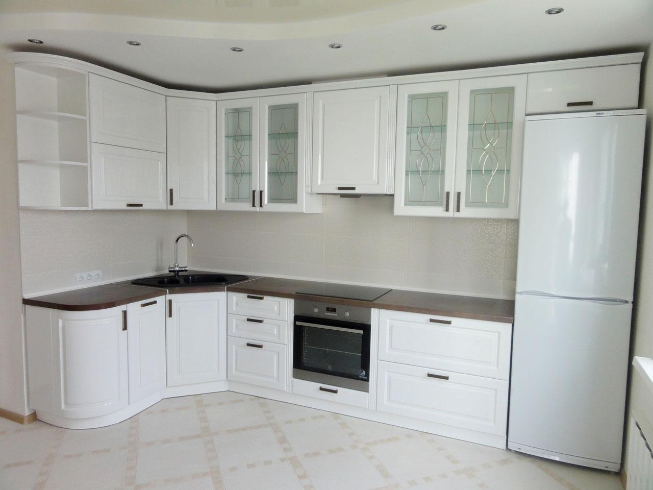 Белая кухня МДФ